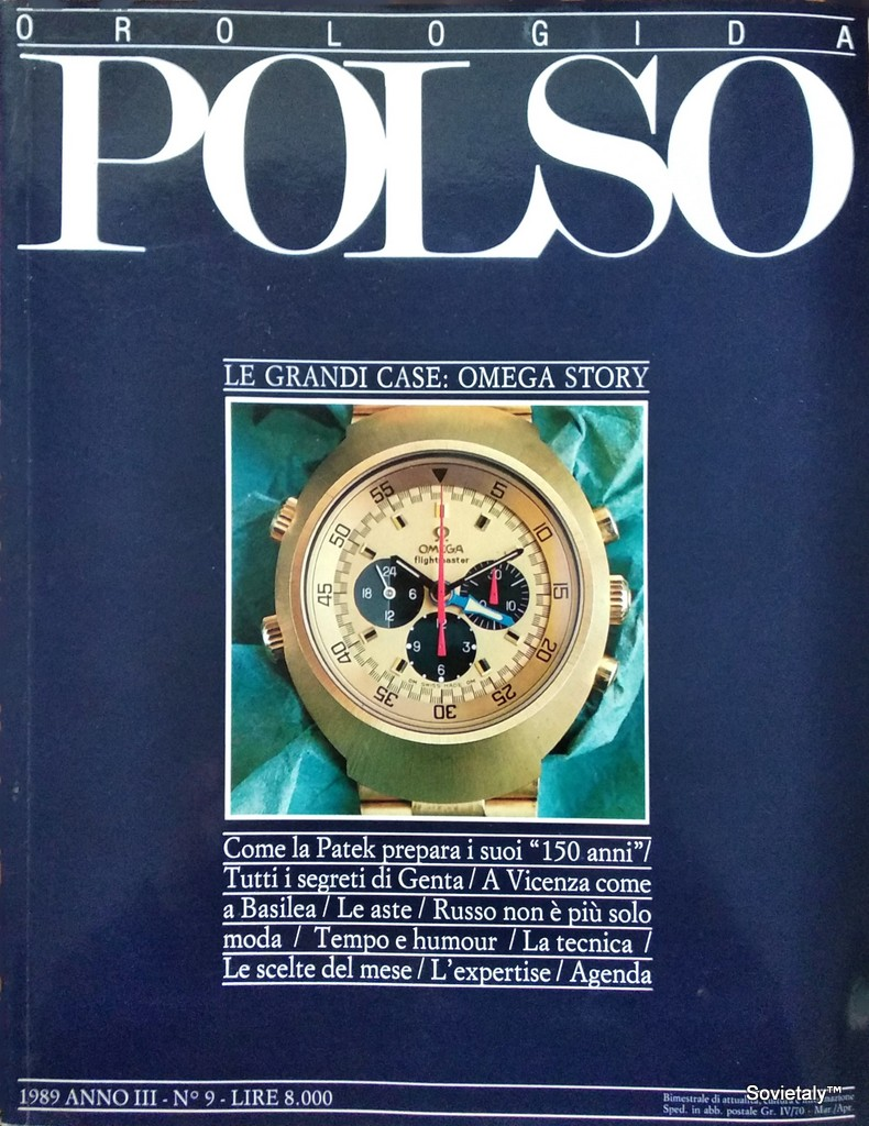 Rivista orologi da polso marzo aprile 1989 n9 anno 3 copertina
